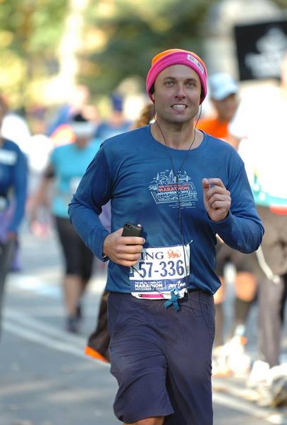 Fred Bollaci Running NYC Marathon - 2013