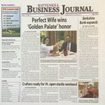 The Perfect Wife Restaurant  Awarded Battenkill Business Journal May Cover Story