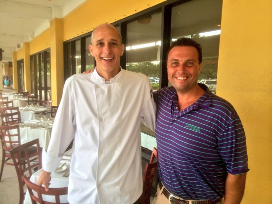 Chef/Owner Keith Casey of K.C.American Bistro with Fred Bollaci