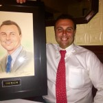 Fred Bollaci Honored with a Caricature at Miami Branch of Legendary Palm Restaurant!