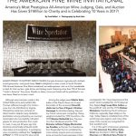 "Fred Bollaci Authors ""Spotlight"" Feature on The American Fine Wine Invitational Annual Wine Competition and Gala in the Latest Issue of Venu Magazine; Venu Now a Media Sponsor of American Fine Wine, the #1 All-American Wine Competition in the US as it Celebrates its 10th Year with $1M to Charity!"