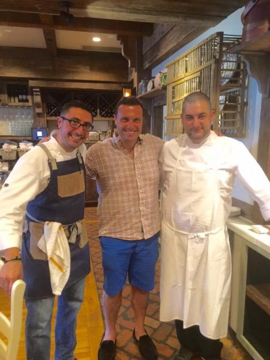 Fred Bollaci, guest Chef Alessandro Taras at Tulia in Naples FL