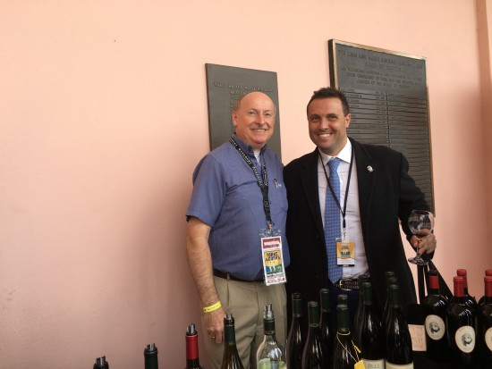 Fred Bollaci With Anthony Bell of Bell Cellars from Napa Valley