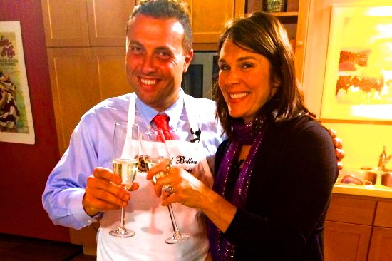 Fred Bollaci with Chef Amy Chamberlain