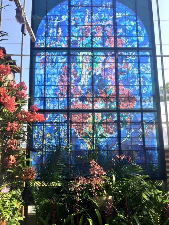 ... 2017, Famous Works Of Famed Jewish Artist Marc Chagall Are On Display  At The Marie Selby Botanical Gardens On The Bay Front In Sarasota, Florida.