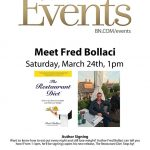 """Meet Author Fred Bollaci for a Signing of """"The Restaurant Diet"""" How to Eat Out Every Night and Still Lose Weight, Saturday March 24, 2018 at Barnes & Noble in Wellington, FL (1-3pm)"""
