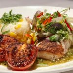 Recipe: Pan Seared Coriander Crusted Mahi-Mahi with Jicama Slaw by Michael's on East, Sarasota, FL