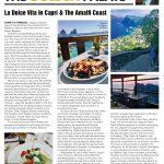 Fred Bollaci's Destination Feature on the Best of Capri & The Amalfi Coast, Italy in Venu Magazine Fall 2018