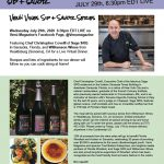 """Venu Magazine and Fred Bollaci Enterprises to co-host Venu Vines Inaugural """"Sip & Savor"""" Virtual Wine and Dine Series with Celebrated Chef Christopher Covelli of Sage SRQ in Sarasota, FL, Paired with Wines from Williamson Winery in Sonoma, CA July 29, 2020 @6:30pm on VenuMagazine Facebook Live"""