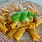 Pasta with Smoked Salmon Pink Sauce, Perfect for Brunch!