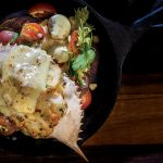 Recipe from the NEW Issue of Golf Kitchen Magazine: Deviled Crabs with Tomato and Corn Relish, Old Bay Hollandaise, & Johnny Cakes by Chef Peter Zoole of Addison Reserve Country Club in Delray Beach, Florida